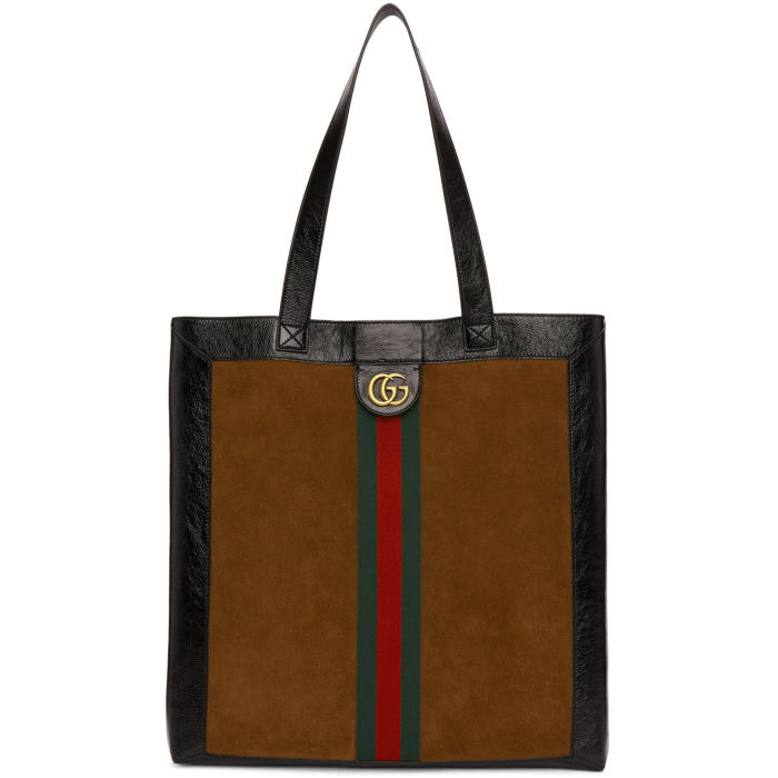 Photo: Gucci Brown Suede GG Tote