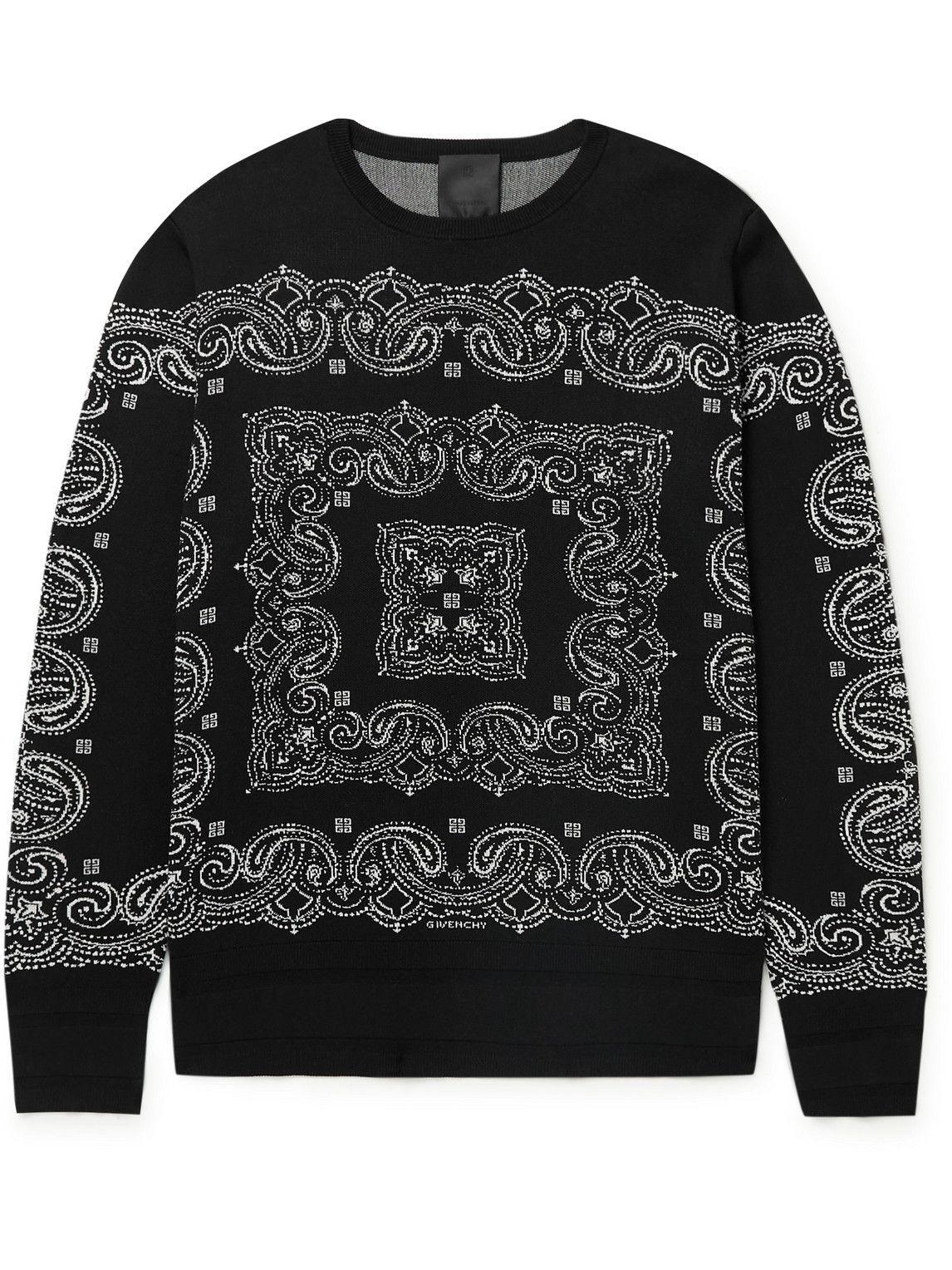 Photo: Givenchy - Intarsia Silk Sweater - Black