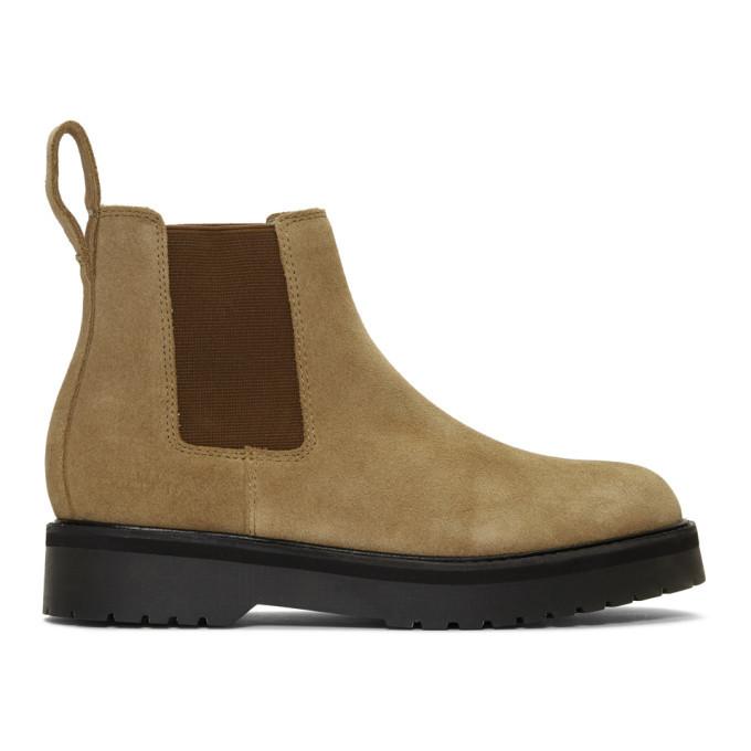 Photo: Saturdays NYC Khaki Suede Rick Chelsea Boots