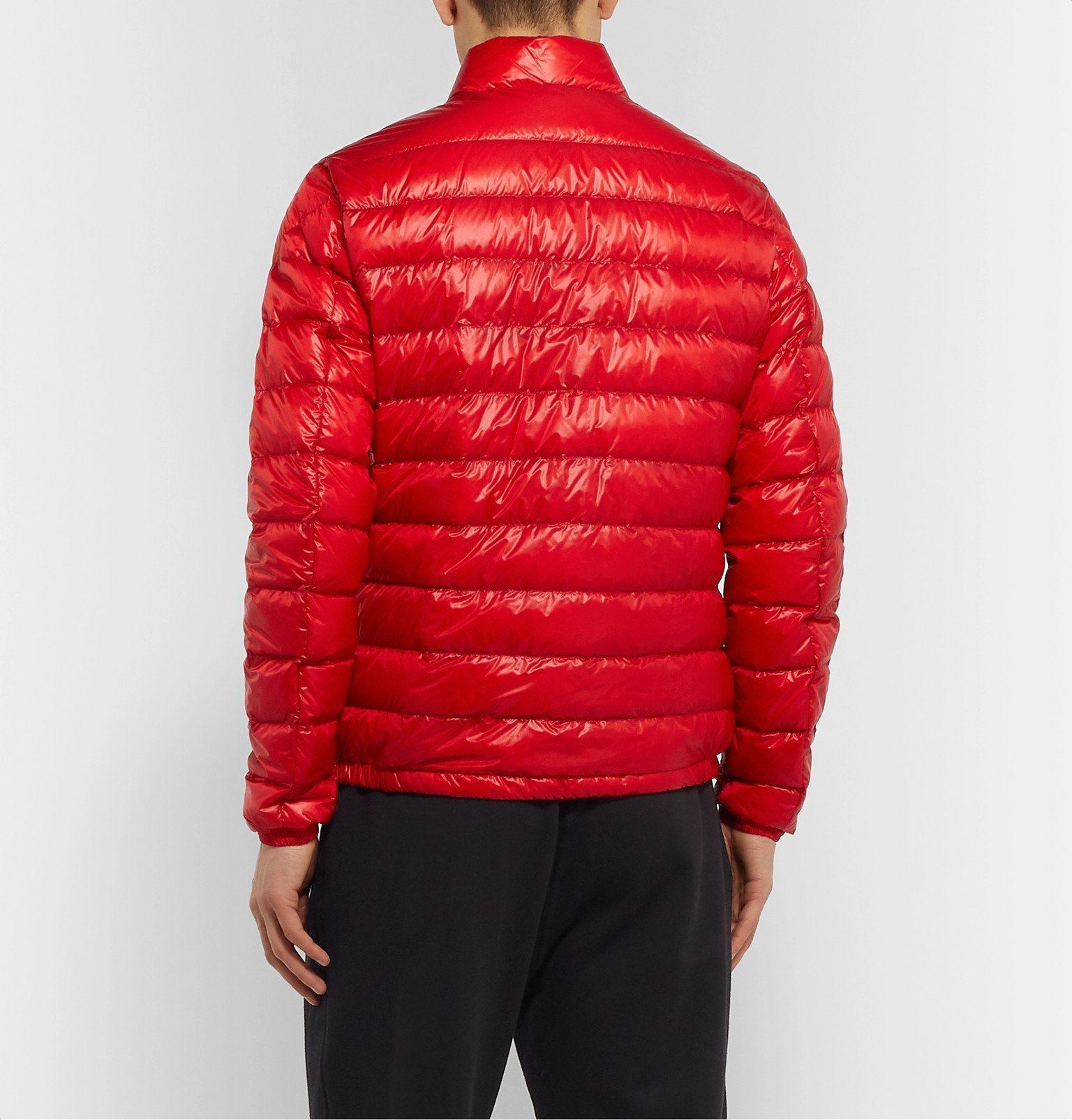 Moncler - Quilted Glossed-Shell Down Jacket - Red