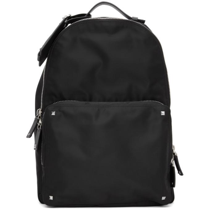 Photo: Valentino Black Valentino Garavani VLTN Backpack