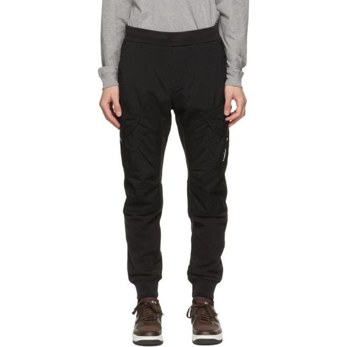 Photo: C.P. Company Black Dyed Fleece Taylon P Cargo Pants