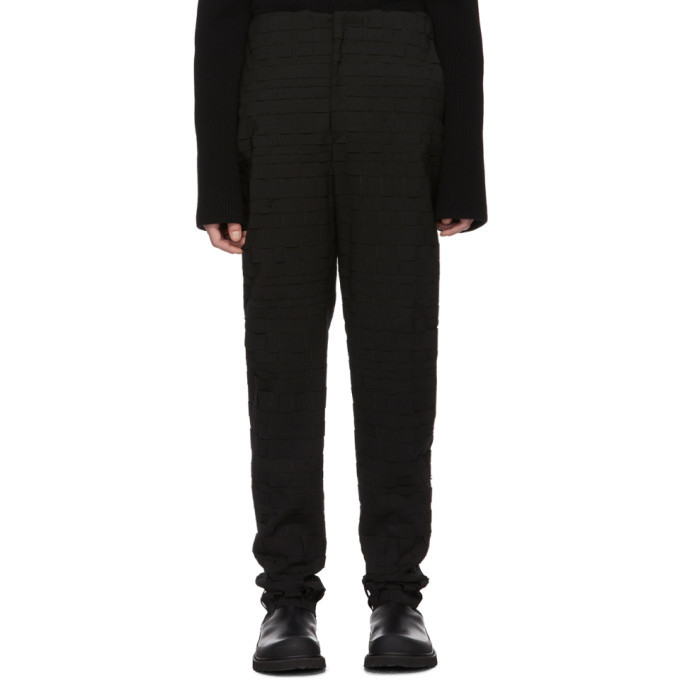 Photo: Bottega Veneta Black Scuba Suiting Intrecciato Trousers