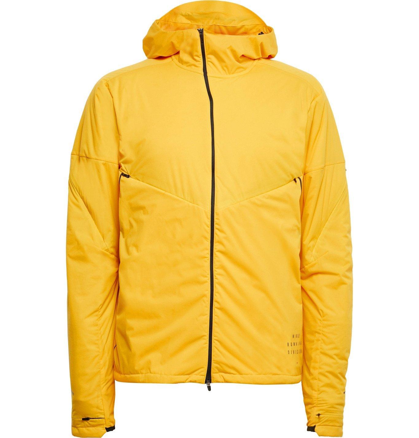 Nike Running - Run Division Dynamic Vent Logo-Print Shell Hooded Jacket - Yellow