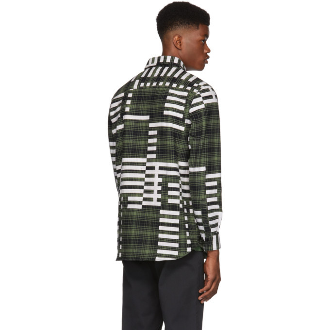 032c Green and Black Pin Flannel Shirt