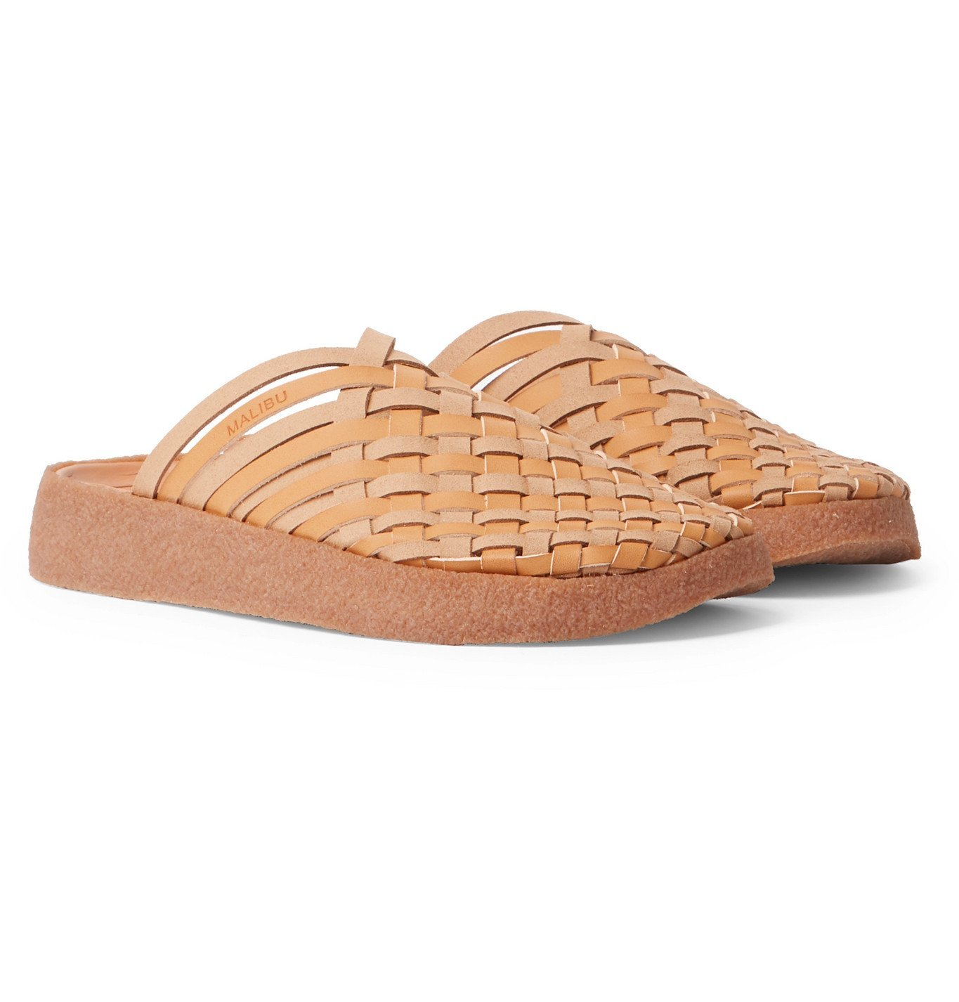 Photo: Malibu - Colony Woven Faux Leather Sandals - Brown