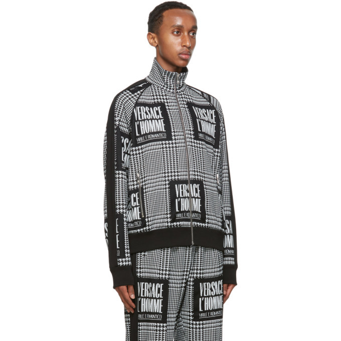 Versace Black and White Address Plate Track Jacket