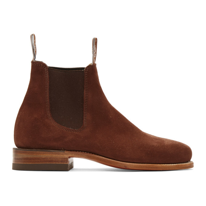 Photo: R.M. Williams Brown Suede Classic Turnout Chelsea Boots