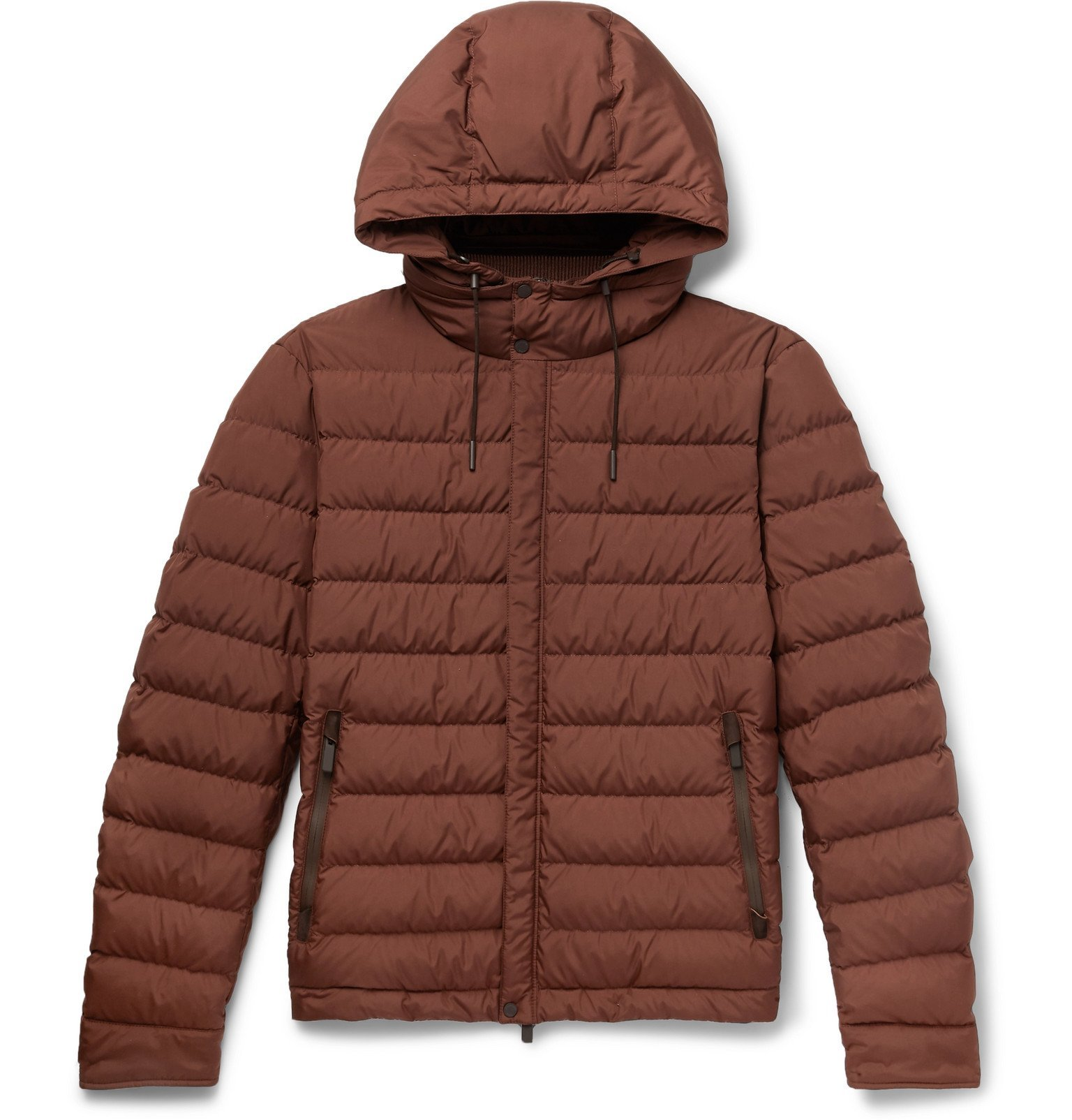 Photo: Ermenegildo Zegna - Quilted Shell Hooded Down Jacket - Red