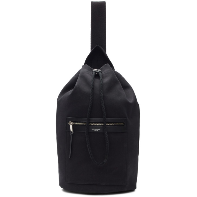 Photo: Saint Laurent Black BV Bucket Backpack