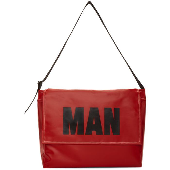 Photo: Junya Watanabe Red PVC Man Messenger Bag