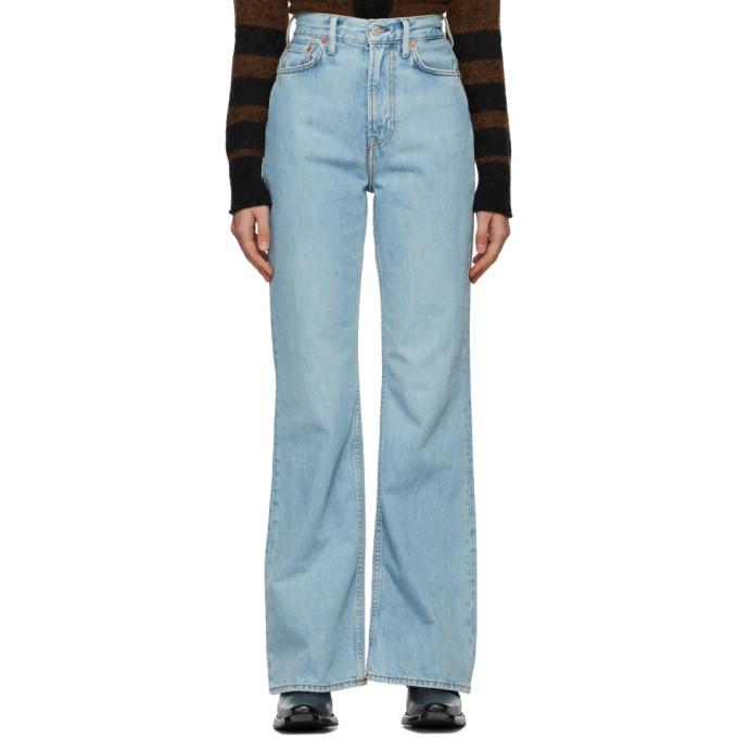Photo: Acne Studios Blue Bootcut Fit Jeans
