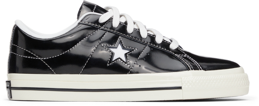 Photo: Converse Black Patent One Star OX Sneakers