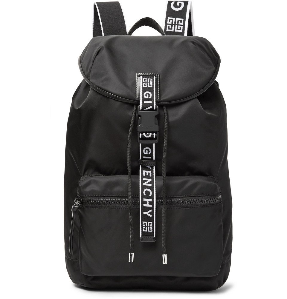 Photo: Givenchy - Leather-Trimmed Nylon Backpack - Men - Black