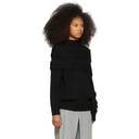 Sacai Black Cable Knit Sweater