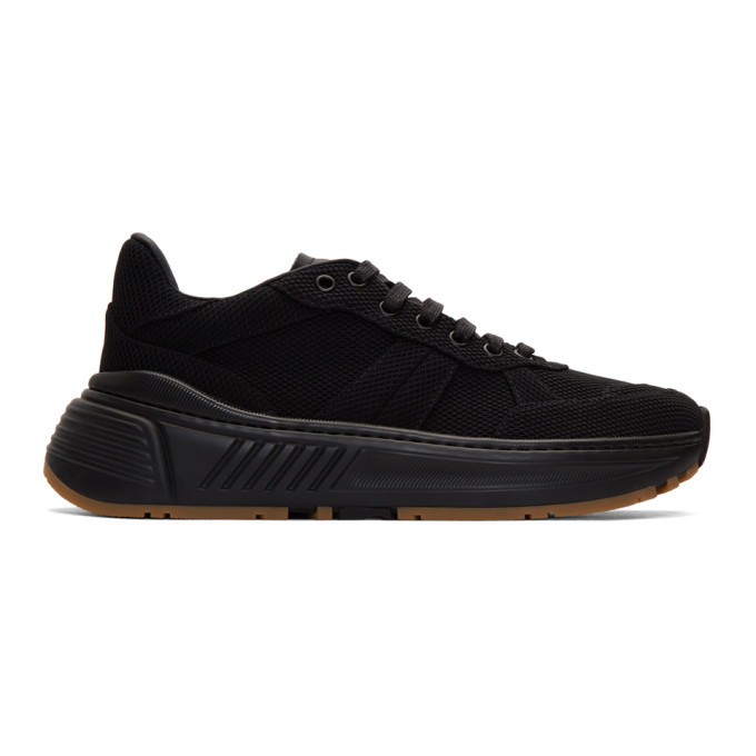 Photo: Bottega Veneta Black Mesh Speedster Sneakers
