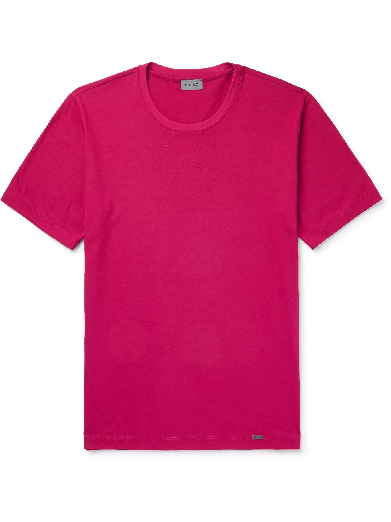HANRO - Kurzman Cotton-Jersey T-shirt - Red