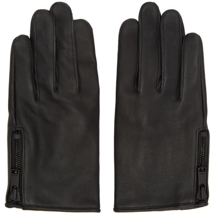 Photo: nonnative Black GRIP SWANY Edition Leather Rider Gloves