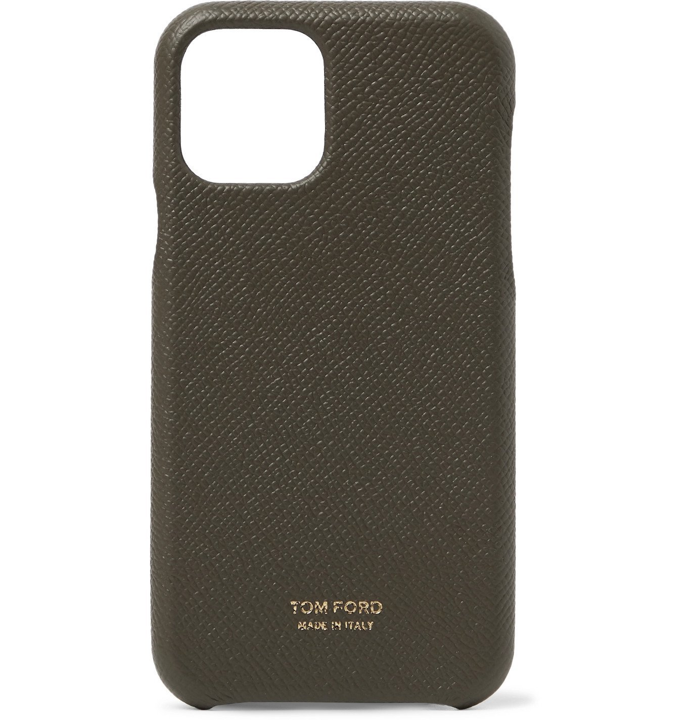 Photo: TOM FORD - Full-Grain Leather iPhone 11 Case - Green