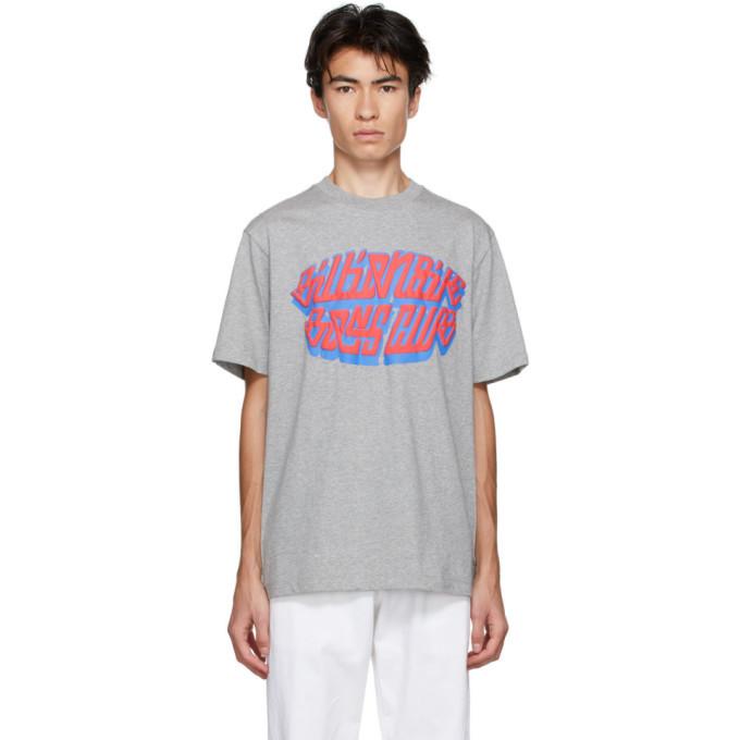 Photo: Billionaire Boys Club Grey Puff Paint Logo T-Shirt
