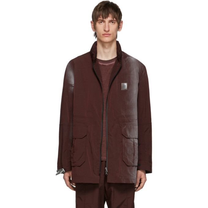 Photo: Oakley by Samuel Ross Burgundy Spray Print Coat