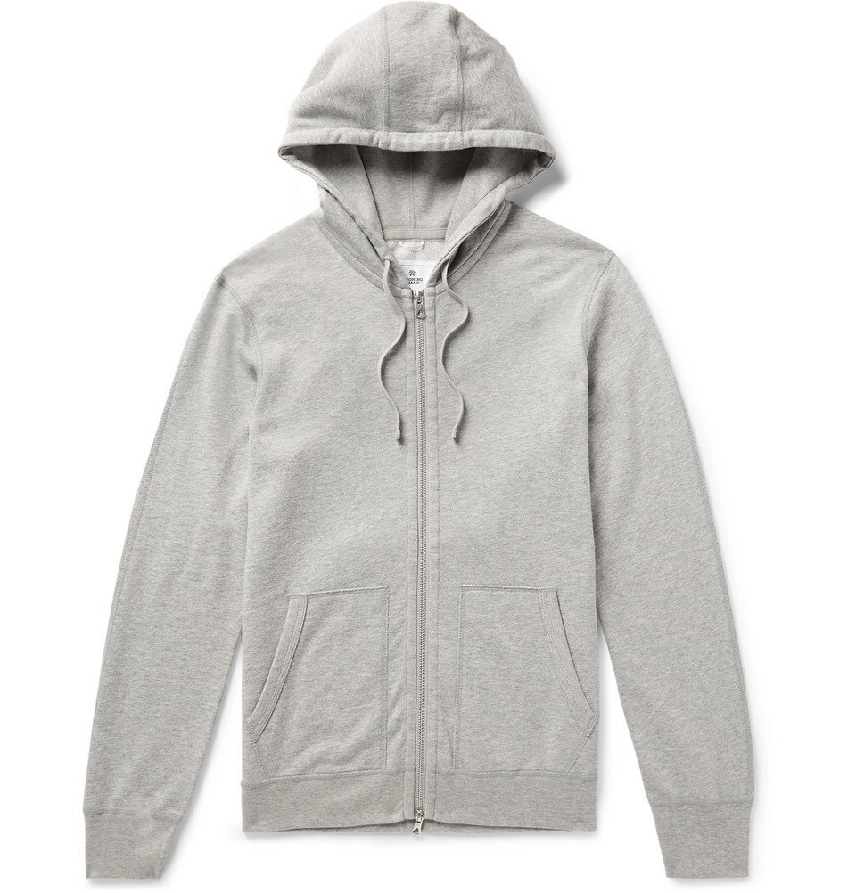 Photo: Reigning Champ - Mélange Loopback Pima Cotton-Jersey Zip-Up Hoodie - Gray