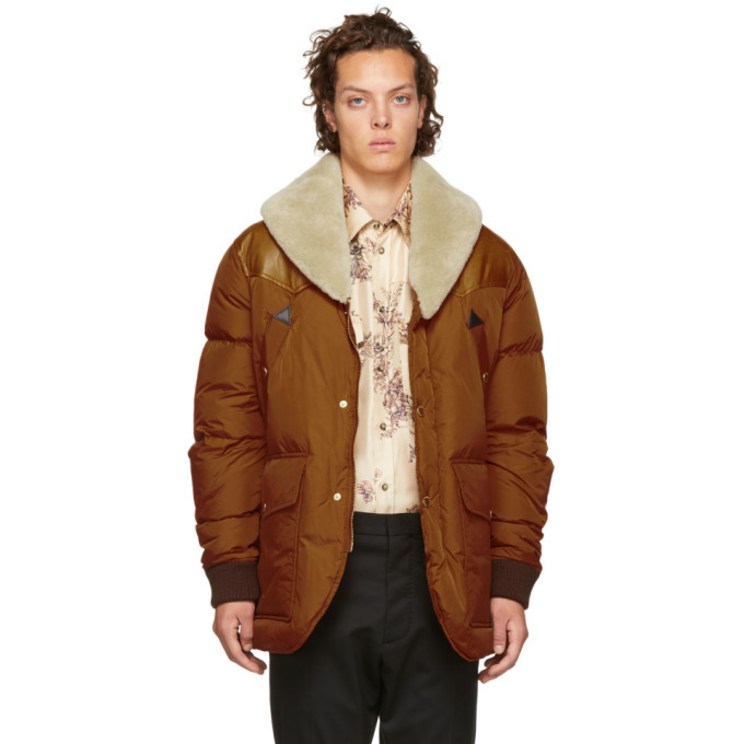 Photo: Dsquared2 Brown Down Puffer Jacket