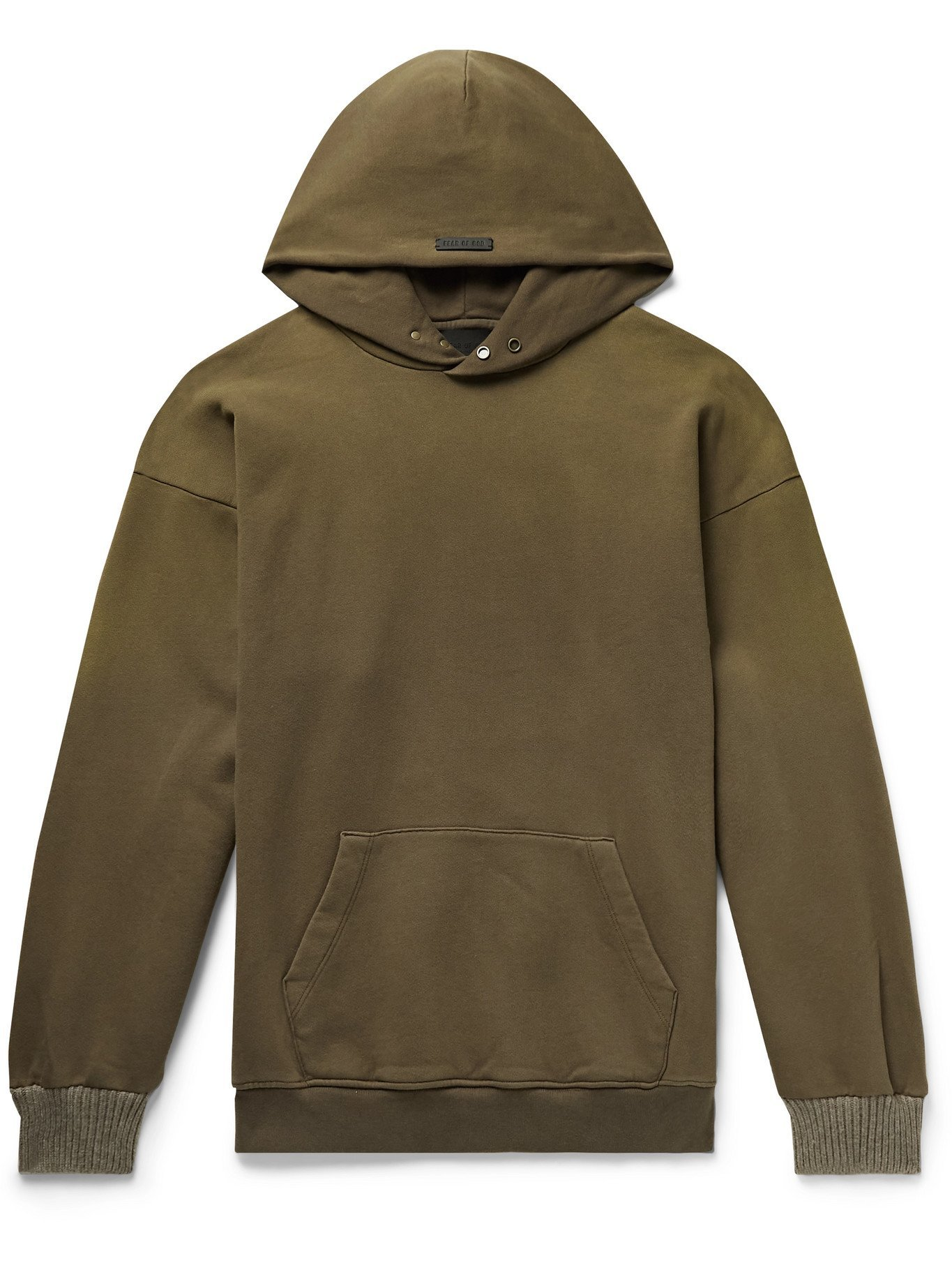 Photo: FEAR OF GOD - The Vintage Fleece-Back Cotton-Jersey Hoodie - Brown - M