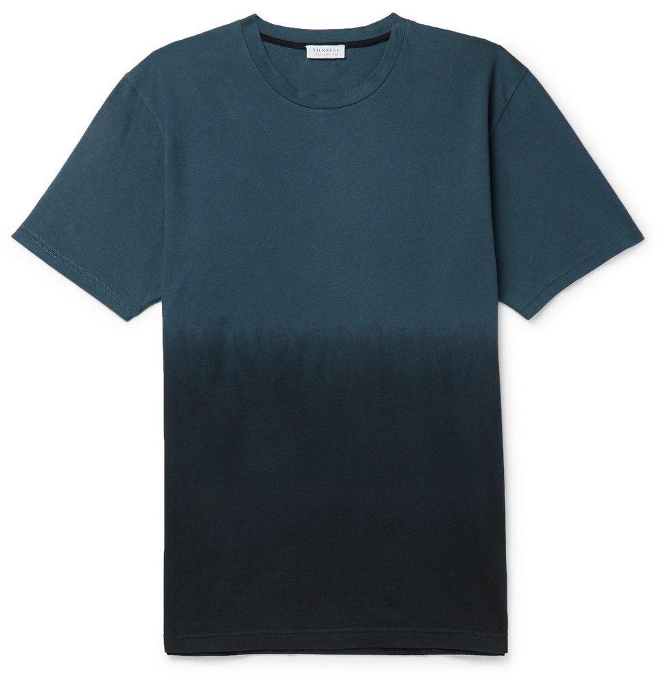 Sunspel - Dégradé Cotton-Jersey T-Shirt - Blue