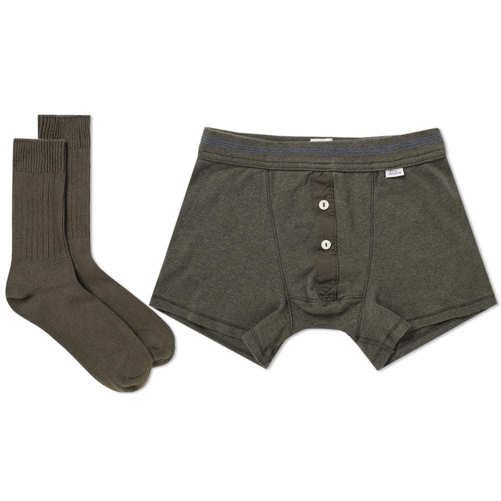 Schiesser Boxer Short and Sock Pack Green