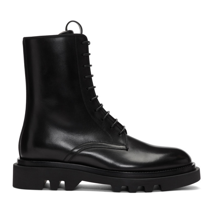 Photo: Givenchy Black Leather Combat Boots