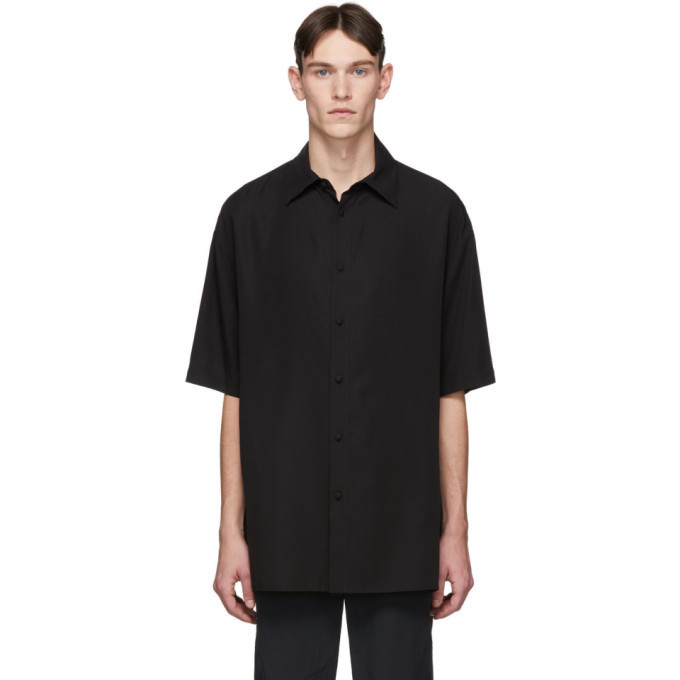 Photo: Valentino Black Lyocell Short Sleeve Shirt