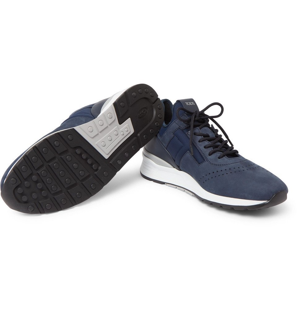 Tod's - Sportivo Suede and Neoprene Sneakers - Navy