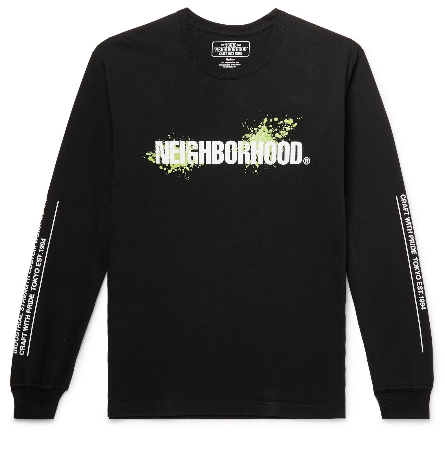 Photo: Neighborhood - Reign Logo-Print Cotton-Jersey T-Shirt - Black