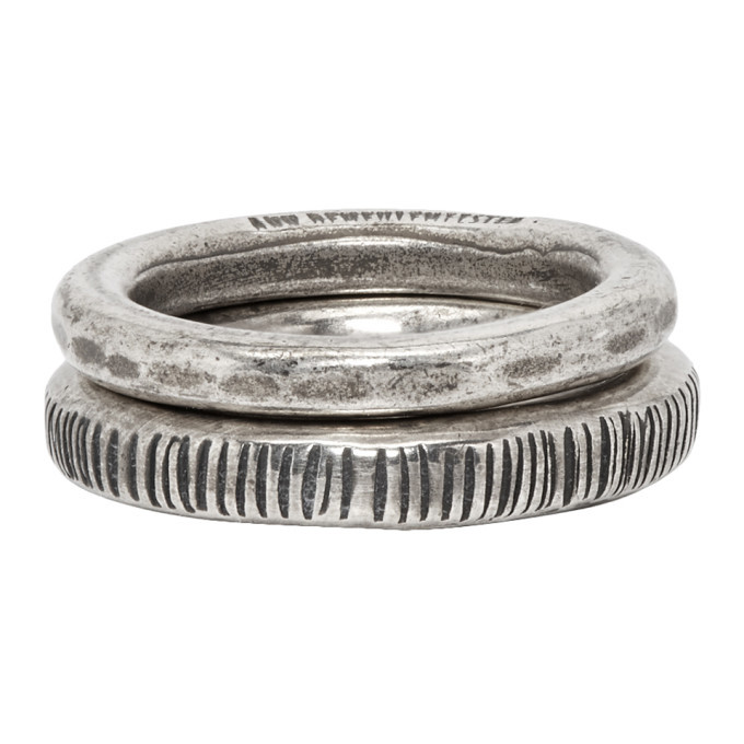 Photo: Ann Demeulemeester Silver Band Ring Set