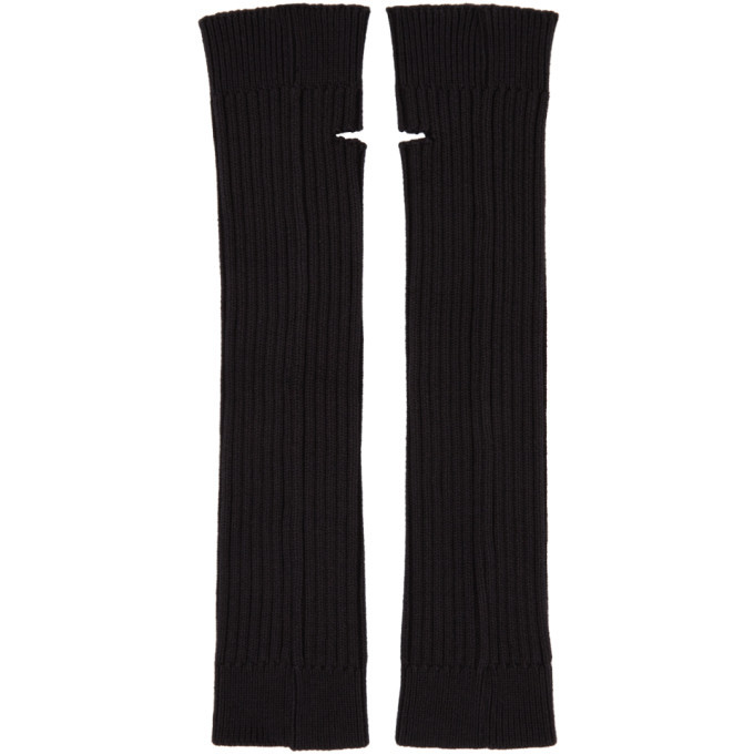 032c Black and Red Embroidered Arm Warmers