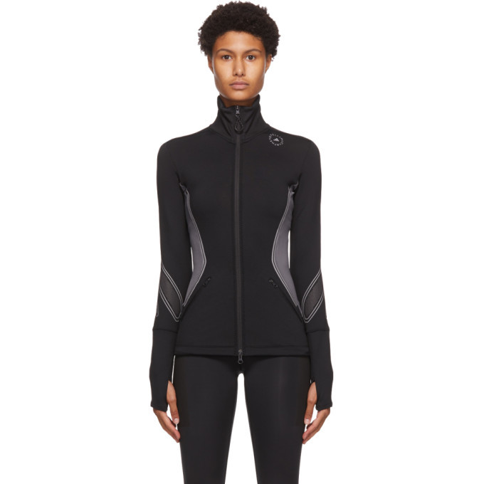 Photo: adidas by Stella McCartney Black and Grey Zip Cold RDY Sweatshirt