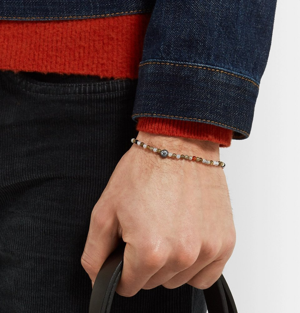 Bottega Veneta - Agate and Silver Bracelet - Men - Multi