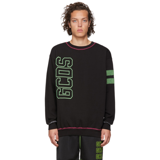 Photo: GCDS Black Logo Double Stroke Sweatshirt