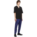 3.1 Phillip Lim Black Oversized Optic Boxy V-Neck T-Shirt