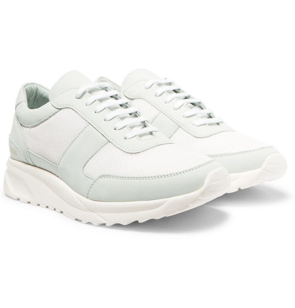 Common Projects - Track Runner Nubuck and Mesh Sneakers - Men - White