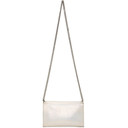 Stella McCartney Off-White Holographic Mini Falabella Crossbody Bag