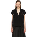 Sacai Black Knit V-Neck Pullover Vest