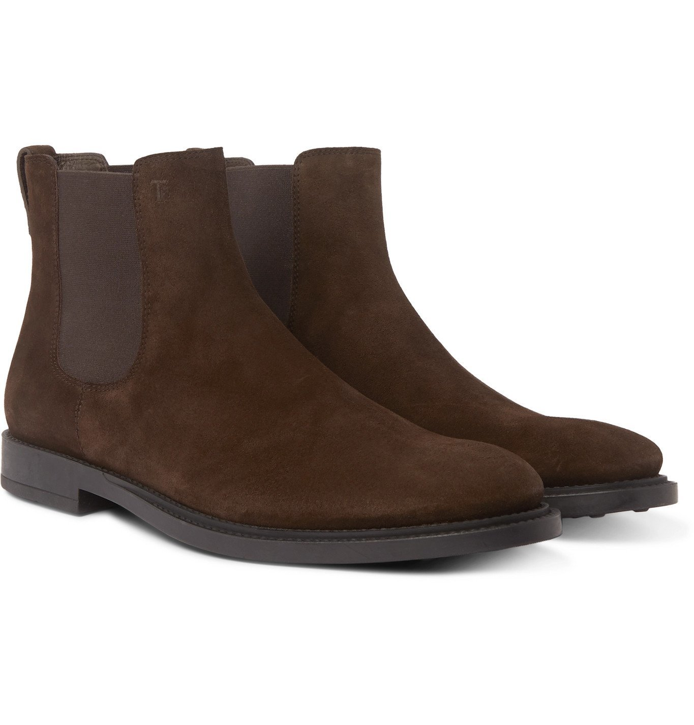 Photo: Tod's - Suede Chelsea Boots - Brown