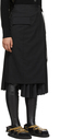 Sacai Black Pleated Suiting Skirt