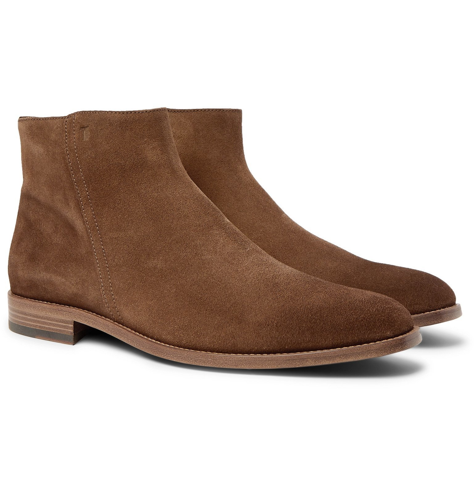 Photo: Tod's - Suede Boots - Brown