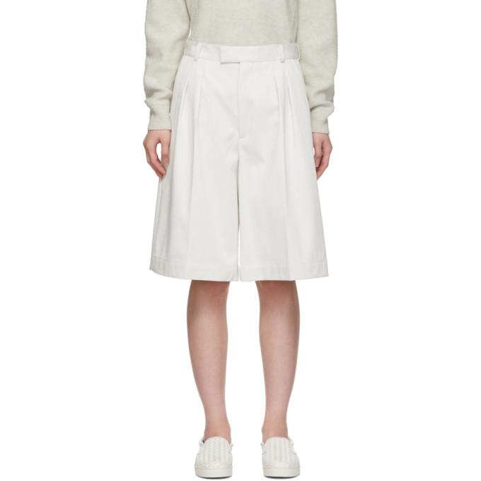 Photo: Bottega Veneta White Oversized Drill Shorts