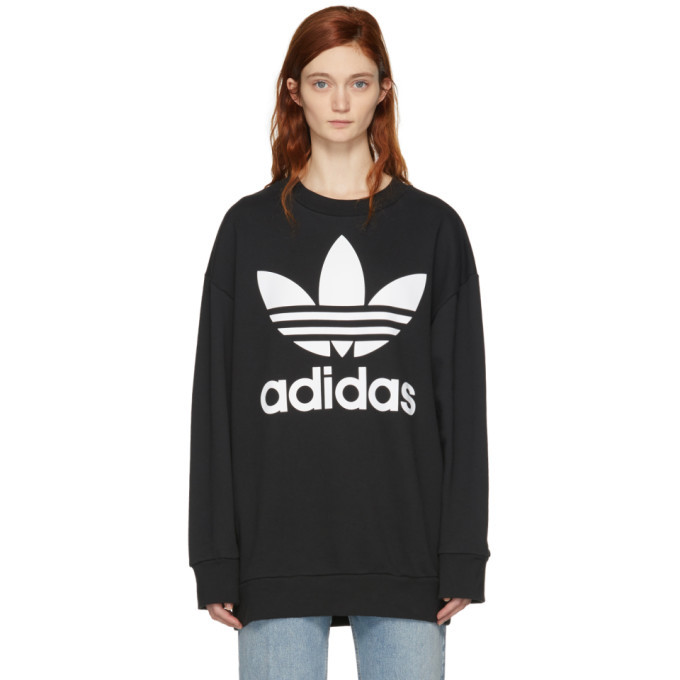 adidas Originals Black Logo Oversized Sweatshirt