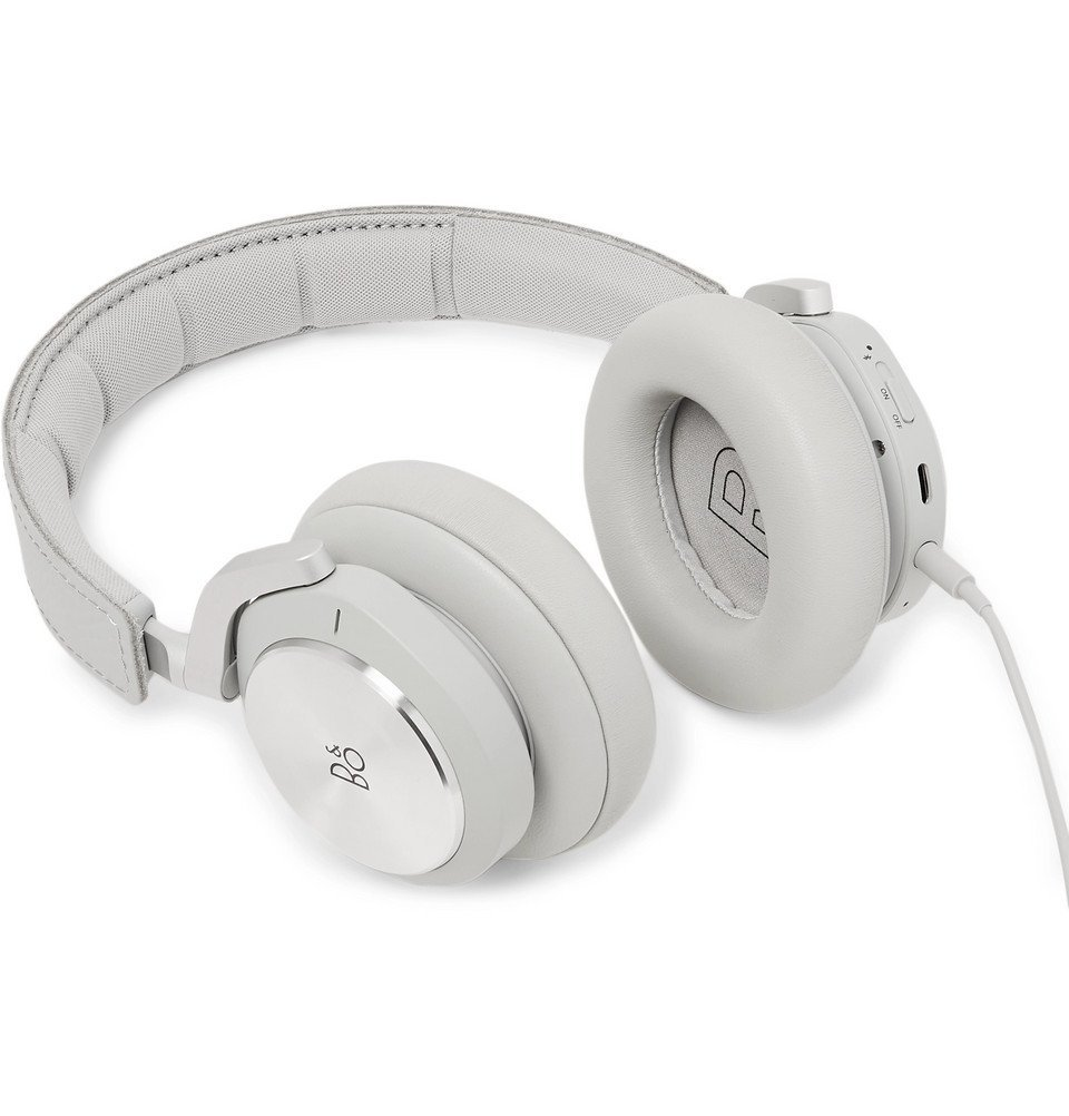 Photo: Bang & Olufsen - Rimowa Limited Edition Beoplay H9i Leather Wireless Headphones - Silver