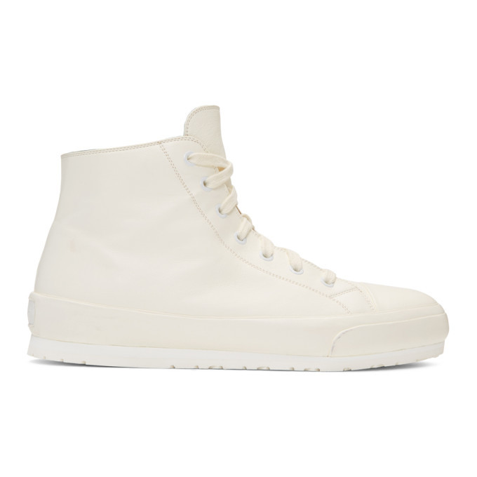 Photo: Brioni Off-White Boot Sneakers